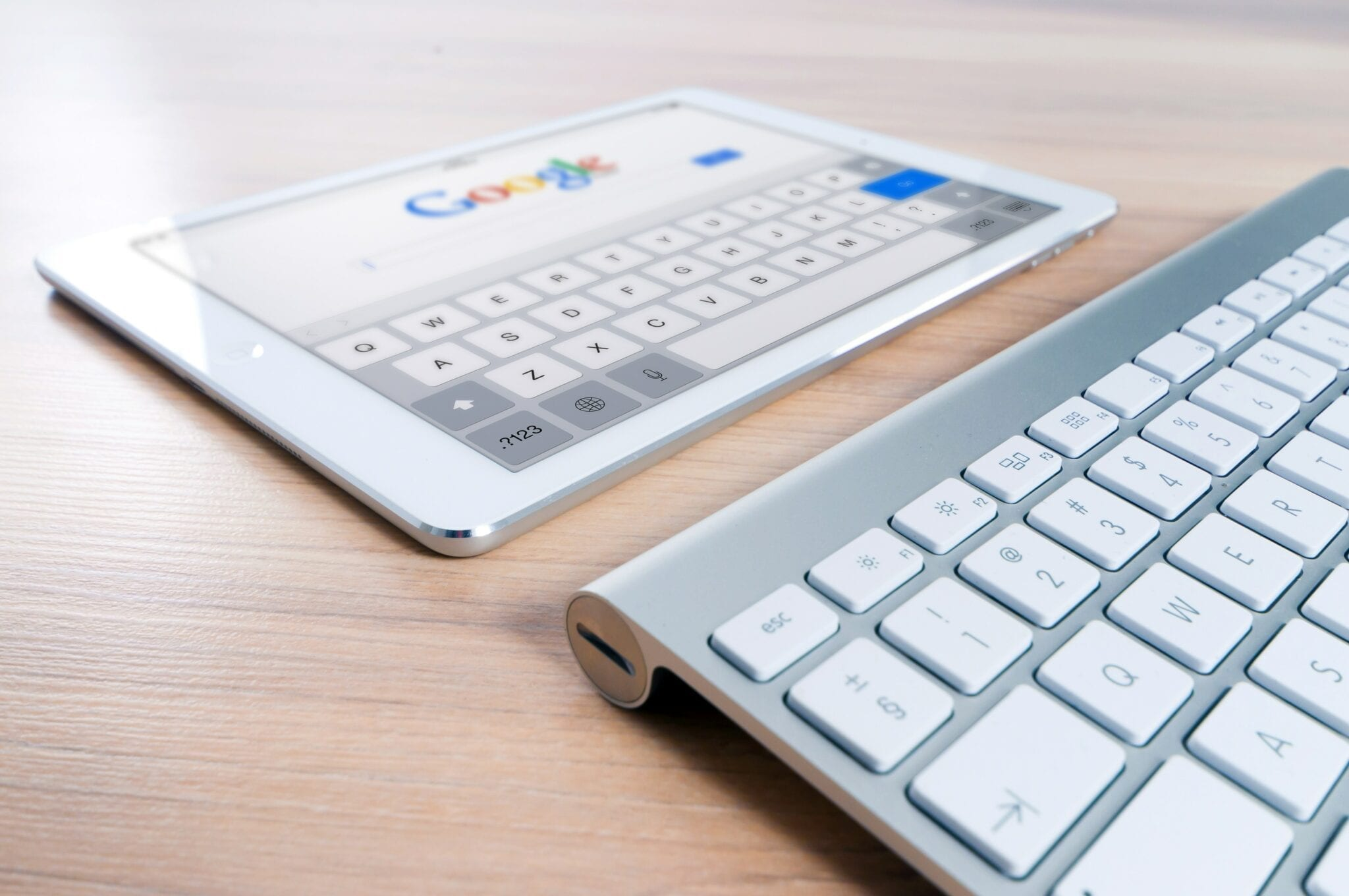 seo marketing near me tablet and keyboard