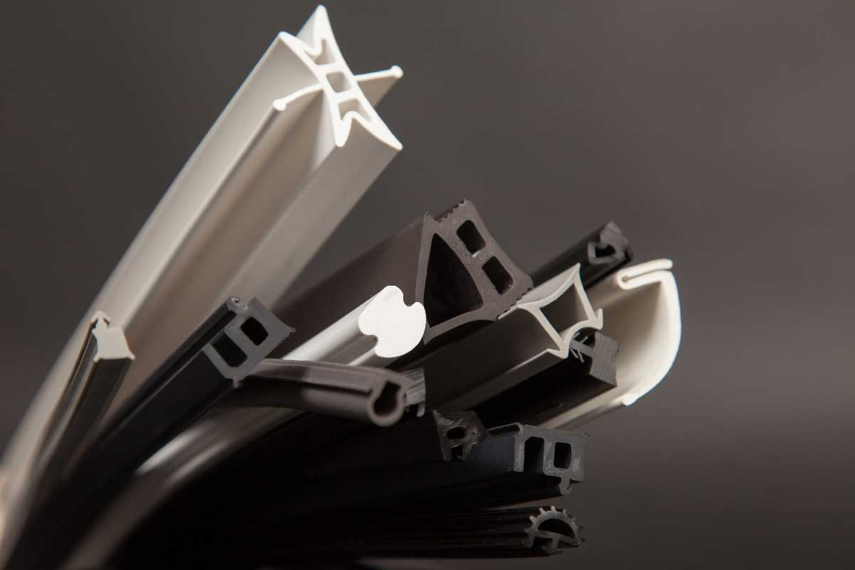 rubber extrusion process and applications